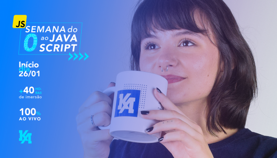 Divulgação Semana do zero ao Javascript - Kenzie Academy