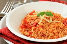 Italian risotto with tomatoes